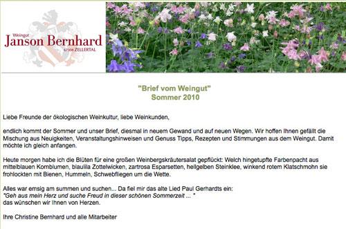 Newsletter Sommer 2010