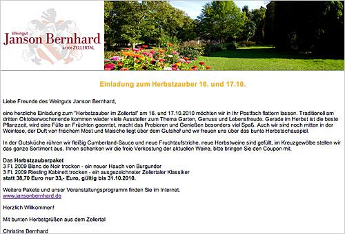 Newsletter Herbst 2010