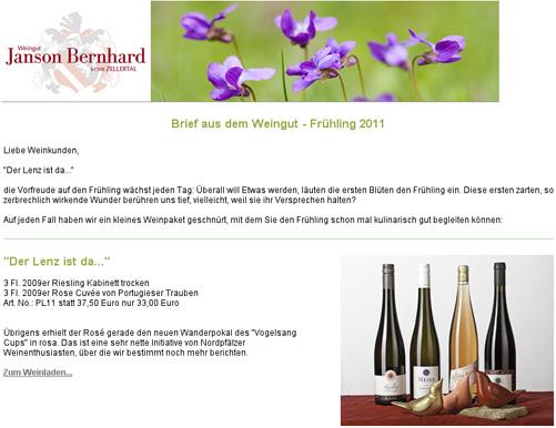 Newsletter Frühling 2011