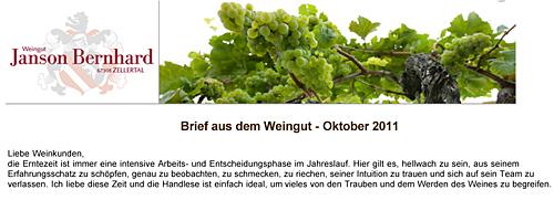 Herbstbrief 2011