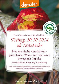 Demeter-Menü Rheinland-Pfalz am 10. Oktober 2014