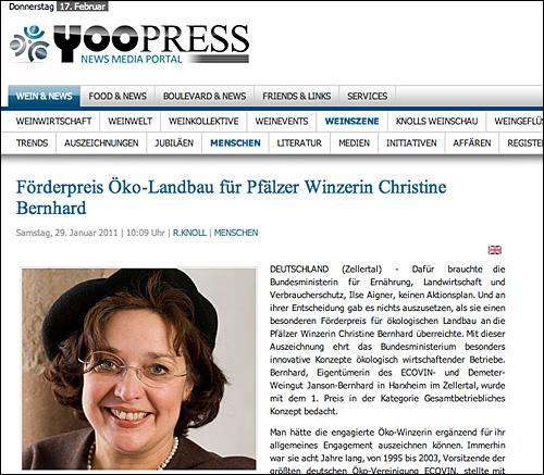 Presseartikel in Yoopress
