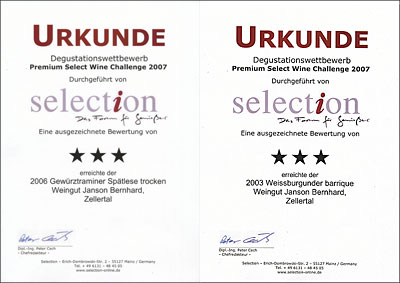 Selection-Urkunden