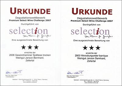 Selection-Urkunden